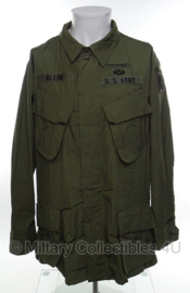 US Vietnam oorlog Jungle Fatique jacket 2nd pattern 82nd airborne - size large/short - origineel