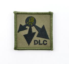 KL Nederlandse leger DLC Divisie Logistiek Commando borstembleem - met klittenband - 5 x 5 cm - origineel