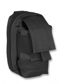 Gevoerde koppel tas voor mobiel etc. - Molle draagsysteem - 13 x 7 x 5 cm - Zwart