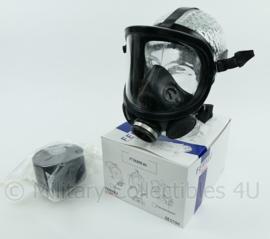 Zwart modern Fernez by Willson brandweer en Speciale eenheden DSI gasmasker met breed zichtveld MET FP-3 filter- zeldzaam model! - beter dan Corona mondkapjes! -  origineel
