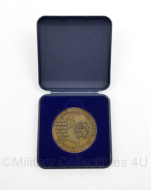 Defensie coin in doosje 50 jaar bevrijding Nederland 1945 - 1995 -  7 x 7 cm - origineel