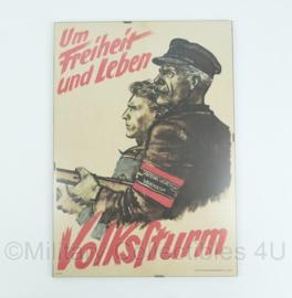 Replica Volkssturm Um Freiheit und leben poster in lijst - 40x30 cm - origineel