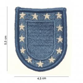 US army stoffen baret insigne - blauw - 5,5 x 4,5 cm