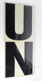 United Nations UN Voertuig Stickerset - 31 x 27 cm - origineel