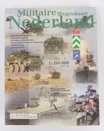 KL Nederlandse leger Topografische militaire wegenkaart Nederland 1:250 000 - 111 x 72 cm - origineel