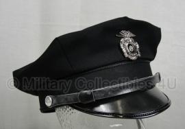 US Police Visor cap ZWART Politie