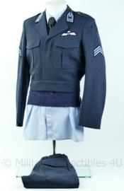 KL luchtmacht DT uniform set met trui, overhemd en stropdas met MA kraakspiegel en parawing - maat 48 - Origineel