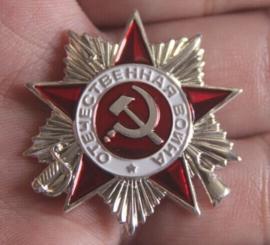 Russische wo2 speld van de Patriotic War Medal ZILVER