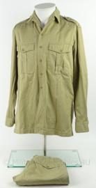 KM Marine tropen uniform set overhemd en broek - 1973 - khaki - maat overhemd 36 - origineel