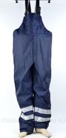 Industriele bretelbroek met reflectie - donkerblauw - Maat XXL - nieuw - origineel