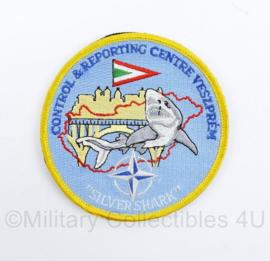 Luchtmacht Nato Control & Reporting Centre Veszprem  Silver Shark - met klittenband -  diameter 10 cm - origineel