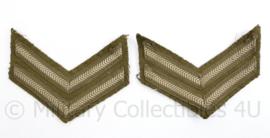 WO2 Britse rang emblemen paar - Rang Corporal - origineel