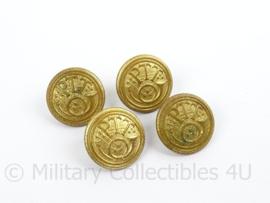 Antieke PTT Knoop groot - goudkleurig - doorsnede 2,3 cm - prijs per stuk - origineel