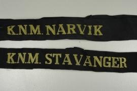 Noorse Marine - Mutsband (matroos) - 2 stuks - origineel - art.nr. 37