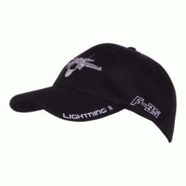 Baseball Cap F-35 Lightning II Zwart met zilver/witte belettering