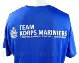 Korps Mariniers Roparun 2014 T-shirt met korte mouw - blauw - maat Large  - origineel