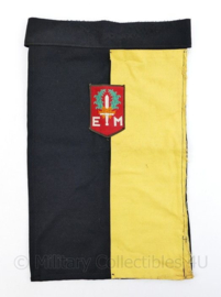 Defensie halsdoek  7 december divisie  - zwart/geel - origineel