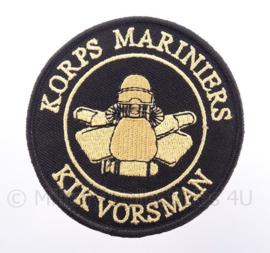 "KM Koninklijke Marine, Korps Mariniers embleem ""Kikvorsman"" - met klittenband - diameter 9 cm"