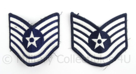 US Air Force USAF rangen set Technical Sergeant - afmeting 9 x 9 cm - origineel