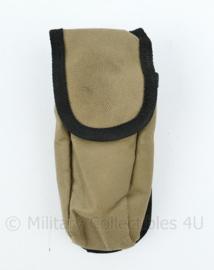 Door Defensie gebruikte MOLLE coyote pouch - coyote met zwarte rand - 17 x 7 x 3,5 cm - origineel