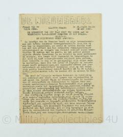 krant de Nieuwsbode - 12 mei 1945 - origineel