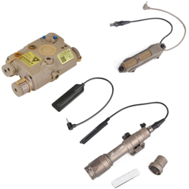 Tactical M600C ScoutLight PEQ15 laser 3-delige kit voor op wapen – COYOTE