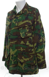 US Army ERDL poplin camo jungle fatique uniform jas zeldzaam 1970 - topstaat - maat Medium/Regular - origineel