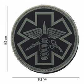 Embleem Para Medic zwart/ foliage - Klittenband - 3D PVC - 8,2 x 8,2 cm.