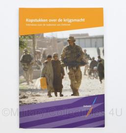 Defensie handboek 'Kopstukken over de krijgsmacht' -24 x 17 x 0,5 cm - 0rigineel