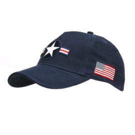 Baseball cap USAF Roundel - blauw met patches