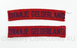 MVO straatnaam paar Oranje Gelderland - 10 x 2 cm - origineel