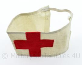 Vintage jaren 40 of 50 Rode kruis armband  katoen met vilt  - 15 x 7,5 cm -origineel