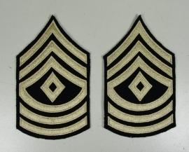 First sergeant rangen set (6 strepen en ruit)