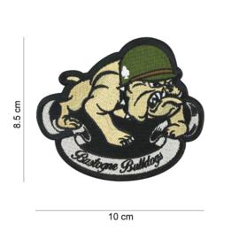 Embleem stof Bastogne Bulldogs 101st Airborne Division - 10 x 8,5 cm.