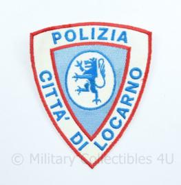 Polizia Citta di Locarno embleem  - Staatspolitie Zwitserland - 10 x 8 cm - origineel