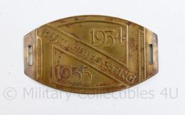 Nederlands fietsplaatje rijwielbelasting  1934 1935 - 6 ,5 x 3,5 cm - origineel