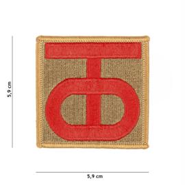 Embleem stof WW2 US 90th Infantry Division - 5,7 x 5,7 cm.