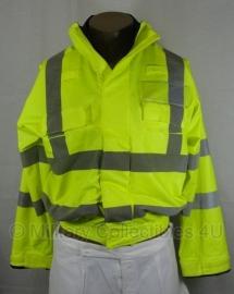 Britse politie jas geel reflecterend - met eigen naam te voorzien!! - maat XS short