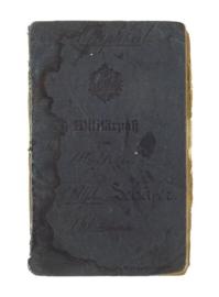 Duits WO1 Militärpaß soldatenpaspoort - gestempeld - origineel