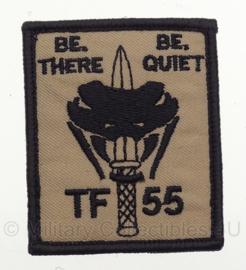 KL Korps Commandotroepen TF 55 embleem - Be there, be quiet - met klittenband - 6,5 x 5 cm