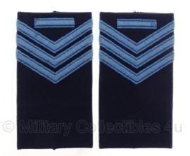 KLU Koninklijke Luchtmacht schouderstukken blauw met blauw - Sergant der 1e klasse - origineel