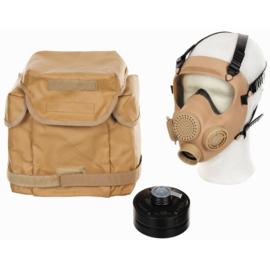 Modern Assault corona gasmasker met breed zichtveld COYOTE MP5 gasmasker met tas- origineel