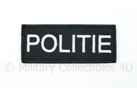 Politie borstembleem - met klittenband - 10 x 4 cm