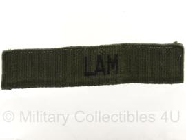 Zuid-Vietnamees leger naamlint 'Lam' - groen/zwart - 13,5 x 2,5 cm - origineel