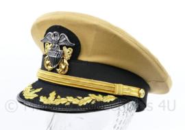 USN US Navy Officer Summer visor cap khaki - maat 58 tm. 60