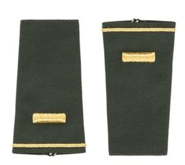 US Army schouderstukken epauletten 2nd lieutenant - Class A Goud op groen - origineel US Army