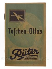 WO2 Duitse Rüter Taschen-Atlas - origineel