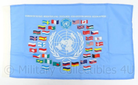 VN/UN UNPROFOR United Nations Protection Force vlag - 72 x 41 cm. zeldzaam - origineel