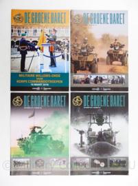 Tijdschrift set van 4 stuks KCT Korps Commando Troepen 2016 - 30 x 21 cm - origineel
