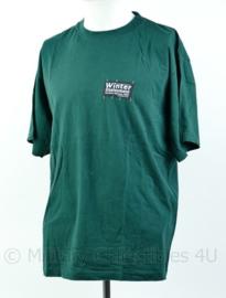 Groen T-shirt van het Korps Mariniers Winter deployment Norway 2005  Maat L - Origineel